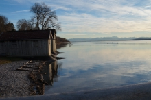 Januarabend am Ammersee