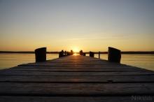 Sonnenuntergang am Steg vom Ammersee